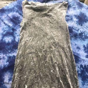 Vintage French 90s velvet dress